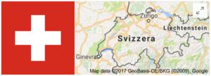 Bandiera e cartina della Svizzera